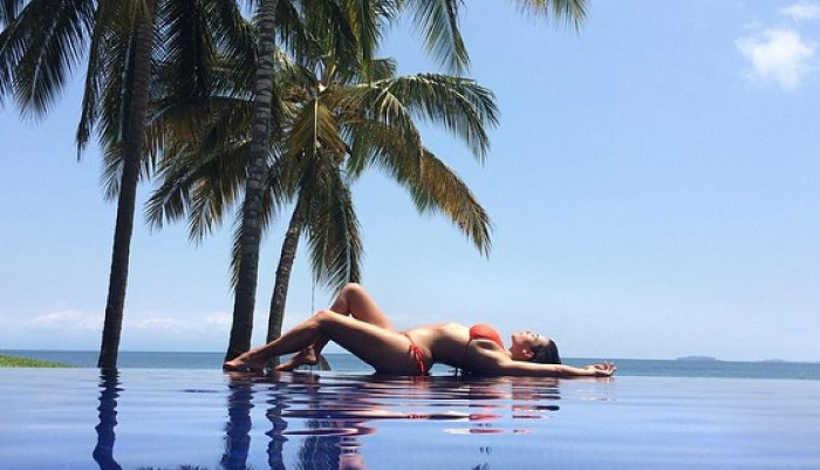 Kim Kardashian In Bikini Very Sexy GIF