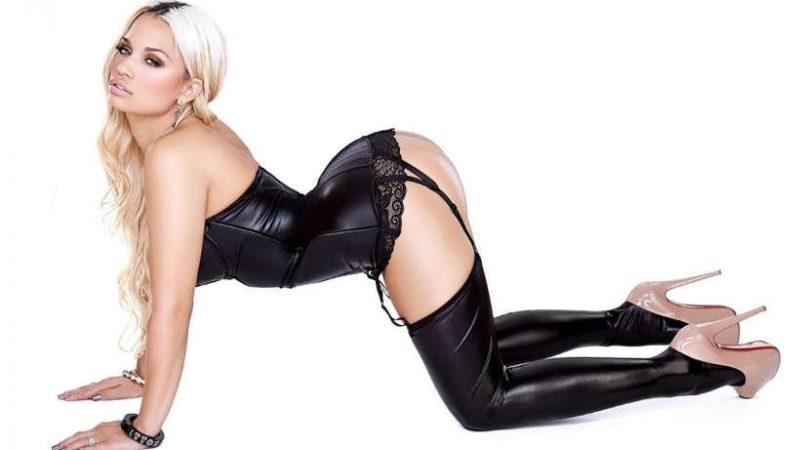 Jessica Kylie in sexy black underwear AngryGIF